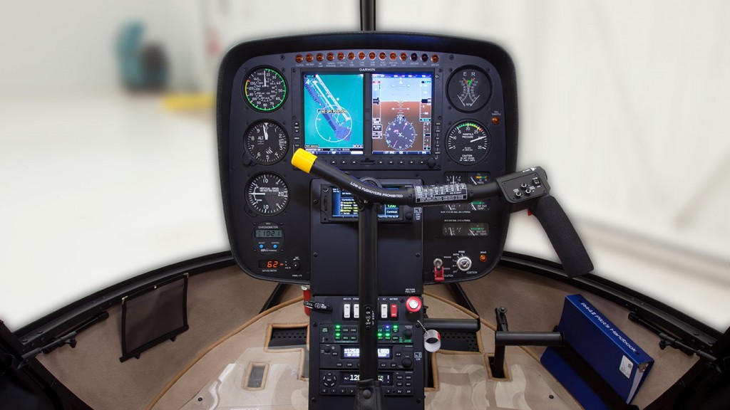 r44 raven 2 removable left seat controls