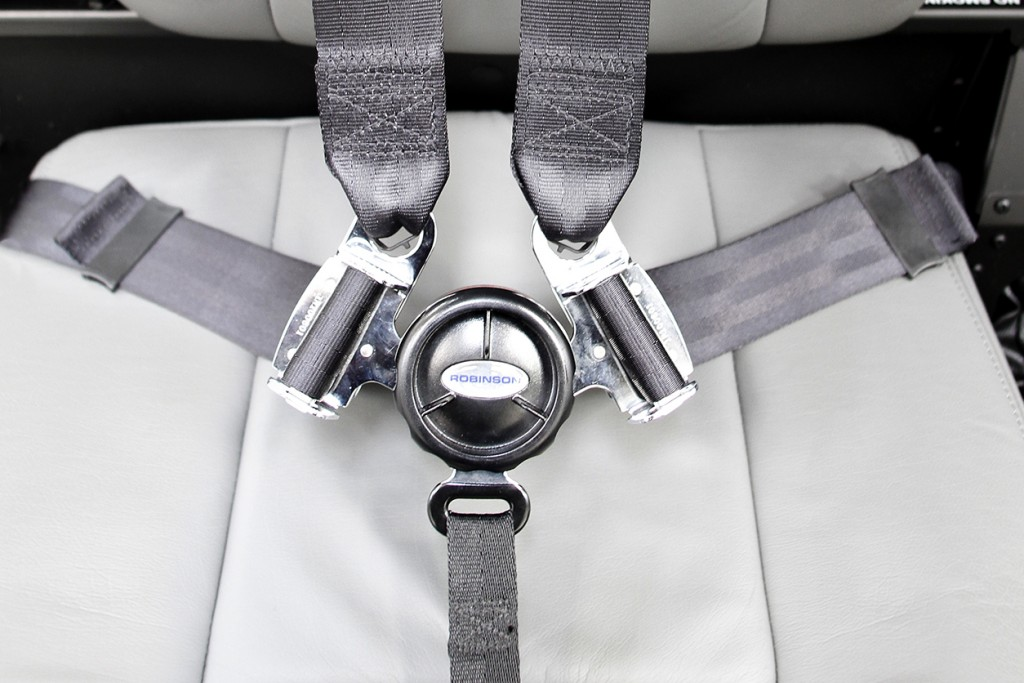 Five point shoulder harness seat belt