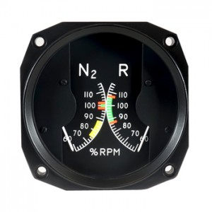 rotor/engine dual tachometer
