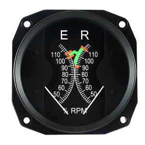 r44 raven one rotor engine dual tachometer