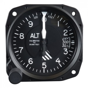 standard altimeter calibrated to 20,000 feet