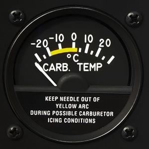 r44 raven one carbureted temperature gage