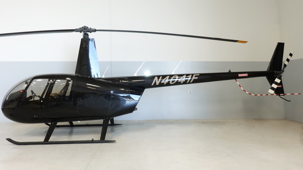 r66 helicopter with white forward strobe light